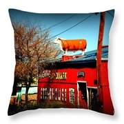 The Steakhouse On Route 66 Throw Pillow