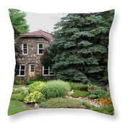 The Stone Cottage Throw Pillow