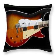 The Strat Les Guitar Throw Pillow