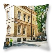 The Streets Of London Throw Pillow