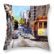 The Streets Of San Francisco . 7d7263 Throw Pillow