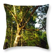 The Strong Tree Throw Pillow