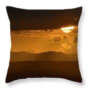 The Sun And De Storm Throw Pillow