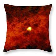The Sun Peeks Through A Wall Of Flame Throw Pillow