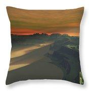 The Sun Sets On This Desert Landscape Throw Pillow
