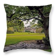 The Sundial Terrace, Glin Castle, Co Throw Pillow