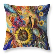The Sunflower ... Visit Www.elenakotliarker.com To Purchase The Original Throw Pillow