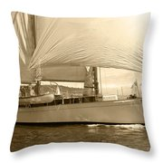 The Suva In Sepia Throw Pillow