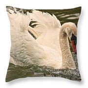 The Swan Throw Pillow