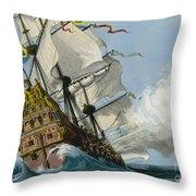 The Swedish Warship Vasa Throw Pillow