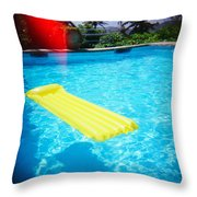 The Swimming Pool Throw Pillow