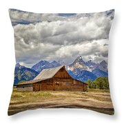 The T. A. Moulton Barn In Grand Teton National Park Throw Pillow