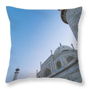 The Taj Mahal At Dusk, Low Angle View Throw Pillow