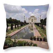 The Taj Mahal In Agra, India Throw Pillow