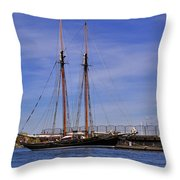 The Tall Ship Pacific Grace Based In Victoria Canada Throw Pillow by Louise Heusinkveld