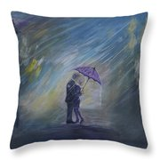 The Taxi Is Coming Throw Pillow