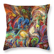 The Temptation Of Eve Throw Pillow