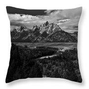 The Tetons - Il Bw Throw Pillow