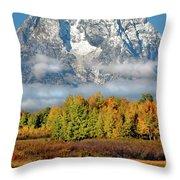 The Tetons In Autumn Throw Pillow
