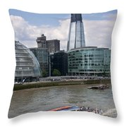 The Thames London Throw Pillow