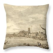 The Thames Looking Towards Westminster From Near York Water Gate  Throw Pillow