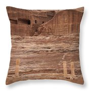 The Theater Carved Out Of A Rock Wall Throw Pillow