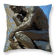 The Thinker By Rodin Throw Pillow