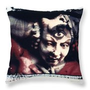 The Third Eye Polaroid Transfer Throw Pillow