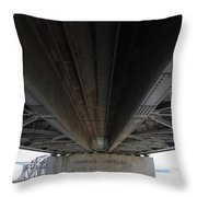 The Three Benicia-martinez Bridges In California - 5d18842 Throw Pillow
