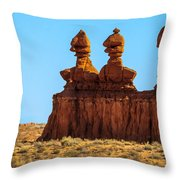 The Three Goblins Throw Pillow
