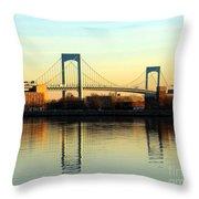 The Throggs Neck Bridge Throw Pillow