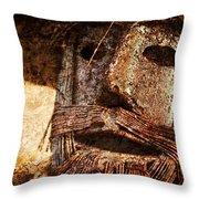 The Tin Man Throw Pillow by Kathy Clark