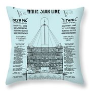 The Titanic Throw Pillow
