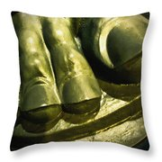 The Toes Of A Vulcan Throw Pillow