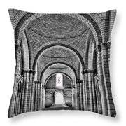 The Tombs At Fontevraud Abbey   France Throw Pillow