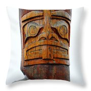 The Totem Canada Throw Pillow