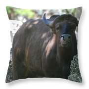 The Tounge Throw Pillow