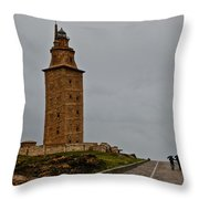 The Tower Of Hercules Throw Pillow