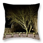 The Tower Of London At Night  Throw Pillow