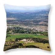 The Town Of Mancos Throw Pillow
