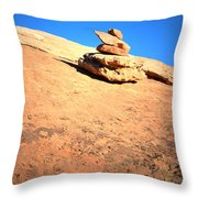 The Trail Marker Throw Pillow