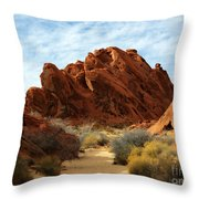 The Trail Through The Valley Throw Pillow