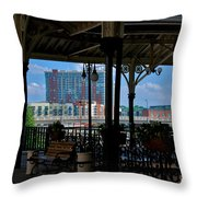 The Trainstation In Nashville Throw Pillow