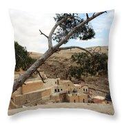The Tree In Desert Throw Pillow