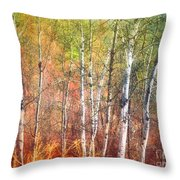 The Trees And The Colour Throw Pillow