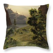 The Trees Are Kissed By Sunlight Throw Pillow