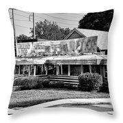 The Trolley Car Diner - Chestnut Hill Philadelphia Throw Pillow