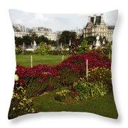 The Tuilleries Garden In Paris Throw Pillow