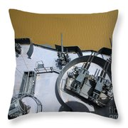 The Twin Bofors 40mm Anti-aircraft Throw Pillow by Michael Wood