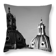 The Twin Domes Of S. Maria Di Loreto And Ss. Nome Di Maria Throw Pillow